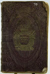 Soldiers Hymn Book - Presented to Sarah Kemp - 1861