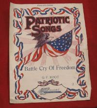 Patriotic Songs  Phamplet - Battle Cry of Freedom