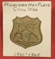 Michigan Hat Plate/Civil War Era