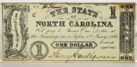 State of North Carolina civil war $1 note