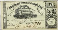 Fractional North Carolina Note 50 cents