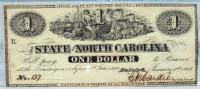 One Dollar - North Carolina - civil war currency