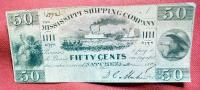 50 Cent Mississippi Shipping Company/Fractional Currency