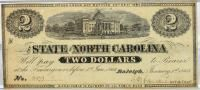 $2 North Carolina note 1862, 1863
