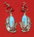 Native American Sterling & Turquoise Earrings