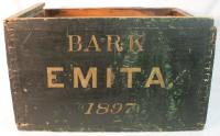Ships box-*Bark Emita*  , original paint
