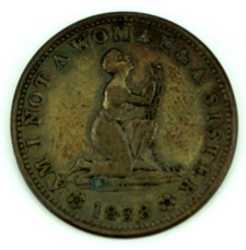 Anti - Slave Token - Am I Not A Woman & Sisiter - 1838