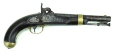 M 1842 Percussion Pistol - dated 1849