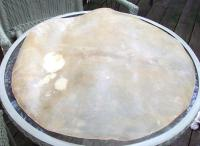 Real leather Drum heads for civil war restoration