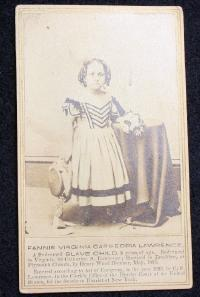 CDV-Fannie Lawrence/A Redeemed Slave Child