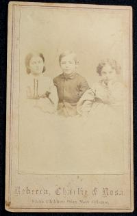 CDV-Slave Children/Rebecca,Charlie,Rosa/As Younger Children