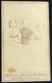 CDV-Slave Children/Rebecca,Charley,Rosa/Ex. Condition