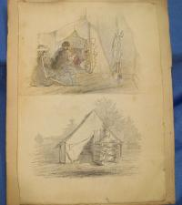Double Sketch by Capt. Wm. Sergeant -KIA