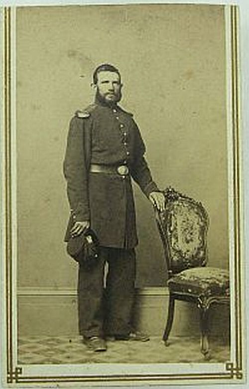 CDV - - Unidentified Soldier Easton, Pa