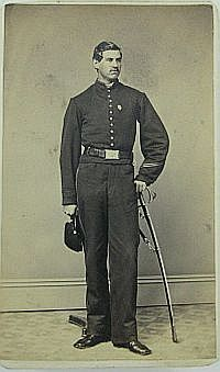 CDV - Standing view Unidentified Cavalry Off. w/ saber