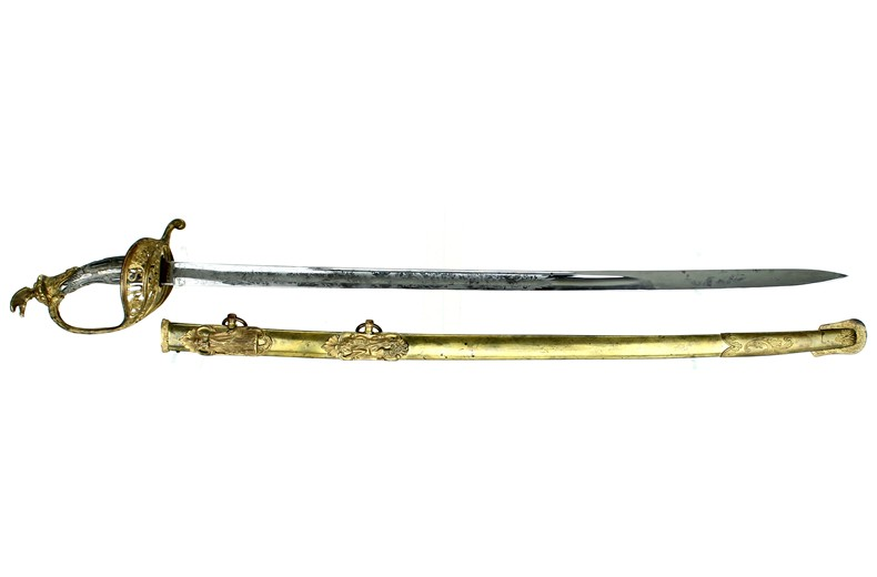 Presentaion Grade M 1850 Staff & Field brass scabbard