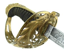 Non Reg - Tiffany British Basket Hilt - Presented