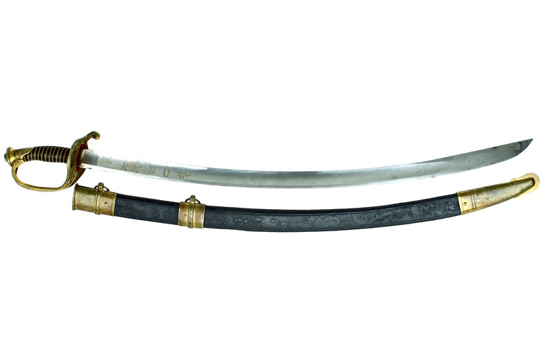 M 1850 Foot Officer Sword - Early Wide Blade Conversion.
