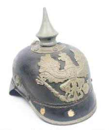WWI German Pickelhaube helmet