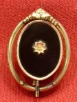 Civil War Era Gold Oynx Mourning Pin