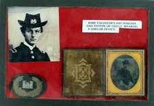 Engineer Tintype and Rare Hat Insignia